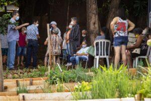 Horta comunitária Campos Elísios em Maringá