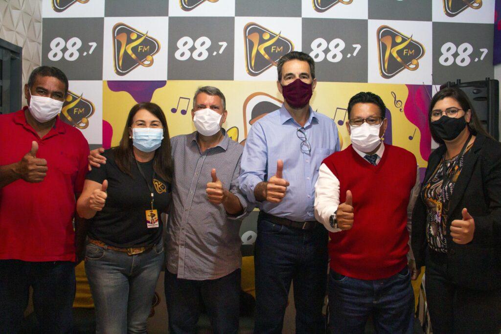 Enio Verri visita rádio Moleka FM 88,7 em Paraíso do NorteParaíso do Norte